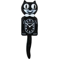KIT CAT CLOCK NOIR